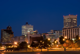 Memphis skyline at night
