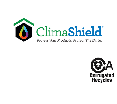 ClimaShield and Corrugated Recycles logos