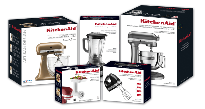 Kitchenaid products packaging