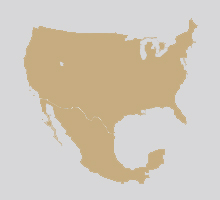 USA Mexico Map