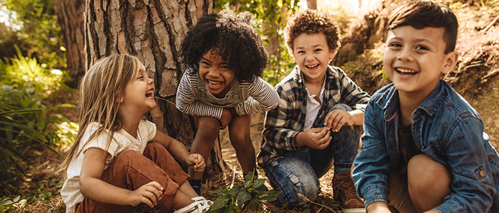 Thriving People & Communities - children laughing